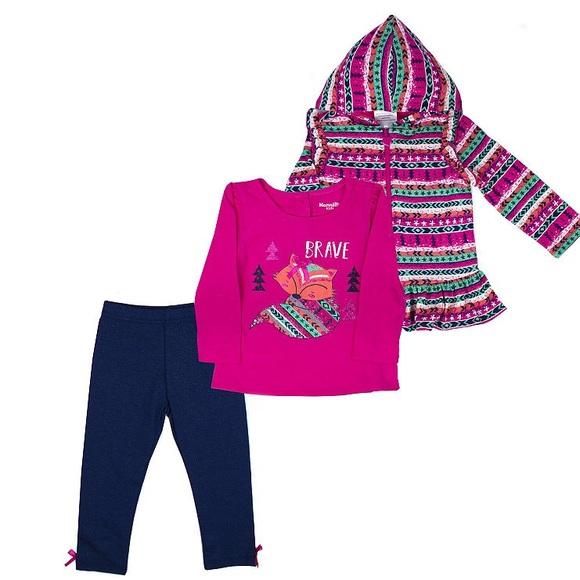 Nannette Other - Nannette Stripe Jacket Brave Fox Top & Leggings